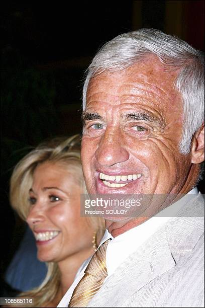 Natty and Jean Paul Belmondo in Paris France on June 28th 2004