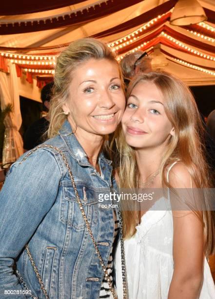Natty Belmondo and her daughter Stella Belmondo attend La Fete des Tuileries on June 23 2017 in Paris France