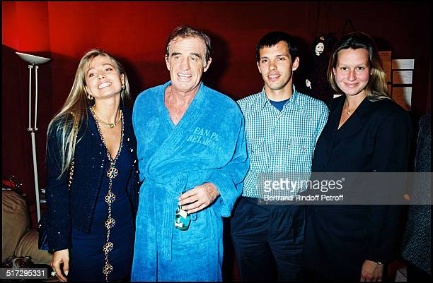 Natty Jean Paul Belmondo Paul Belmondo and Luana Premiere of the play 'Tailleur De Dames' at the theater of Paris