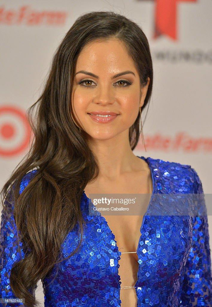 Natty Natasha pose backstage at Billboard Latin Music Awards 2013 at Bank United Center on April 25, 2013 in Miami, Florida.