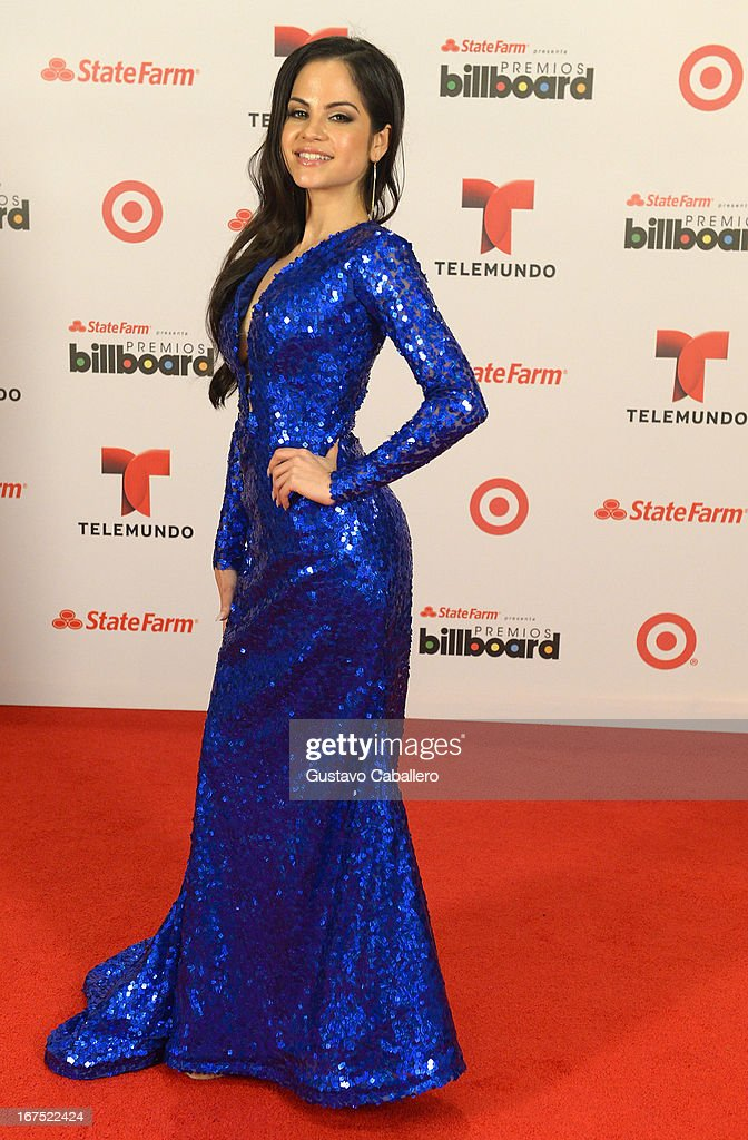 Natty Natasha pose backstage at Billboard Latin Music Awards 2013 at Bank United Center on April 25, 2013 in Miami, Florida.