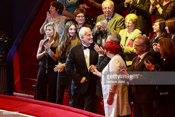 Natty Tardivel JeanPaul Belmondo's granddaughter Annabelle Belmondo and JeanPaul Belmondo are seen during the 52nd 'Gala de l'Union des Artistes' at...