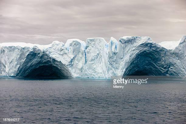 Arco Natural do Icebergue Tabular Gronelândia Oceano Ártico