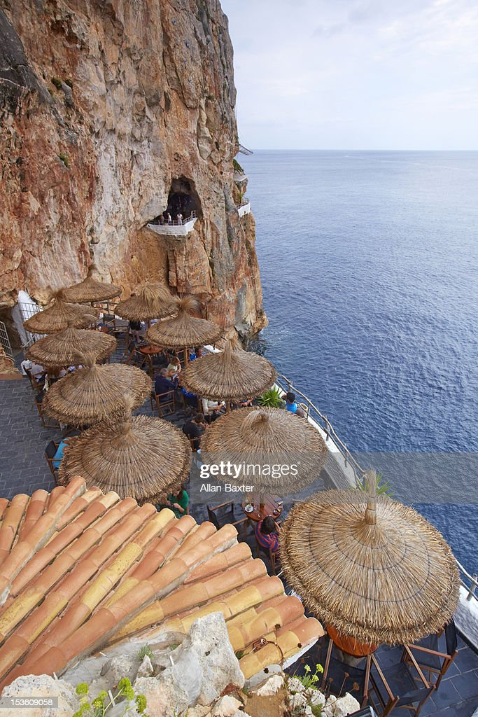 Natural bar in Cliff face : Stock Photo