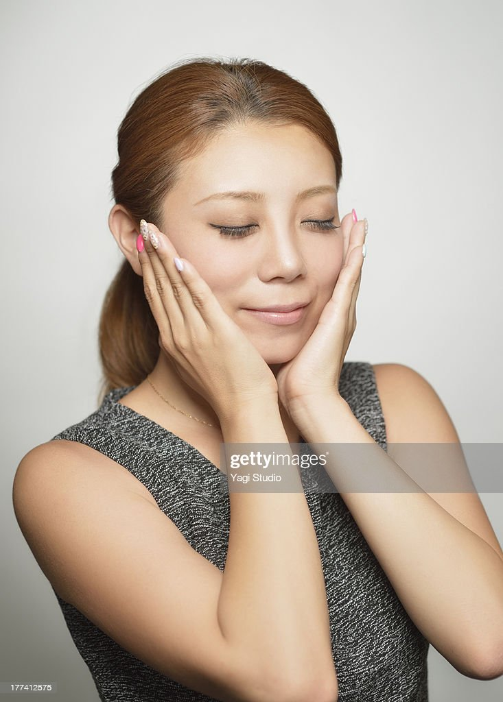 Natural beauty portrait of Japanese woman : Stock Photo