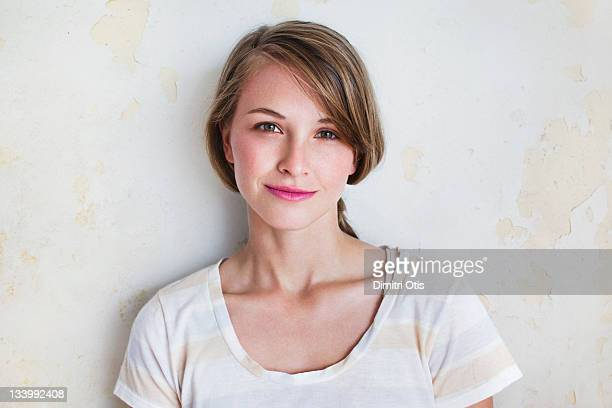 Natural beauty portrait of young woman, smiling