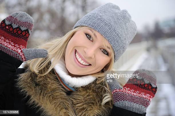 Natürliche Schönheit Winter Outdoor Portrait