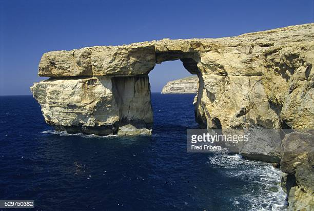 Natural bridge close to Dwejra Bay, Gozo, Malta, Mediterranean, Europe