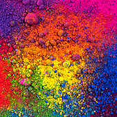 composition of natural multicolor pigment powder