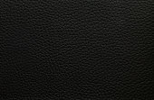 Natural black leather with natural dark texture and natural pattern. Genuine leather texture.