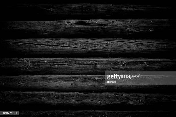 Natural distressed wood. Black and white image.