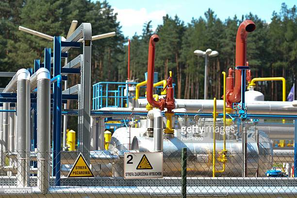 A natural gas extraction plan in 'Bor' forest in Krakow Poland on August 5 2016 The nature reserve 'Bor' is located near a small town Glogow...