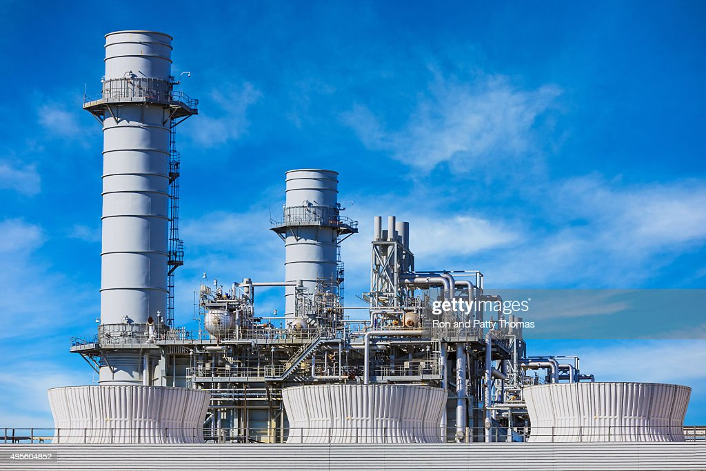 Natural Gas Fired Electrical Power Plant : Stock Photo