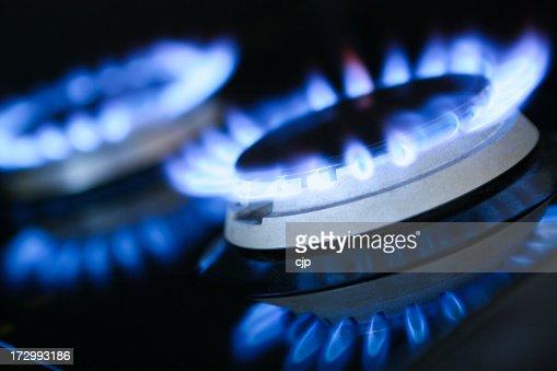 Natural Gas Rings Burning
