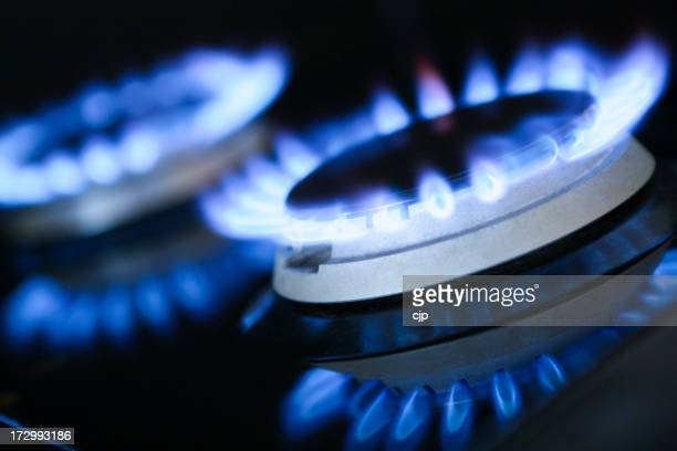 Natural Gas Rings Burning