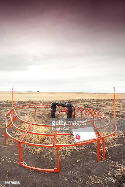 Natural Gas Wellhead in Oil Field Alberta