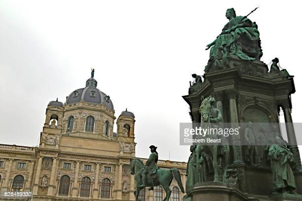 Natural History Museum and monument at Maria-Theresien-Platz, Vienna