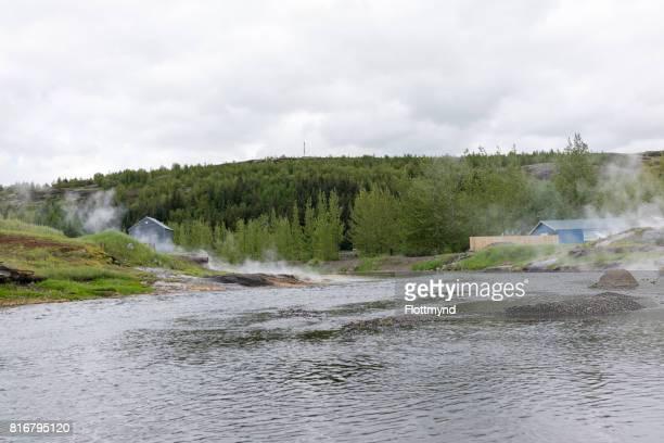 Natural hot springs in Fludir, Iceland