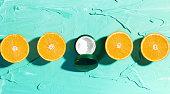 Natural moisturizer with orange and vitamin C