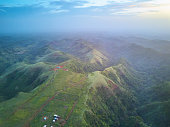 Natural mountain landscape in Nicaragua view from drone. Ecology natural background