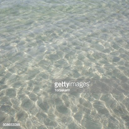 natural of clean and clear sea water : Stock Photo