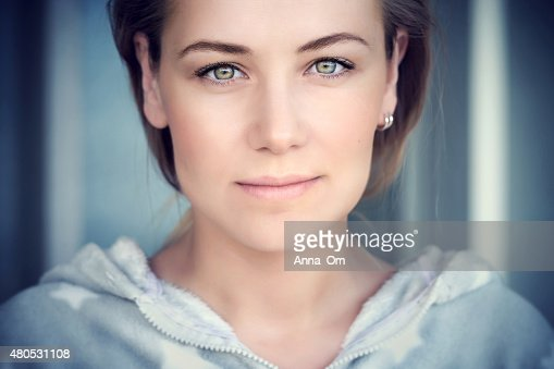 Natural portrait of a beautiful woman : Stock Photo