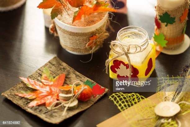 natural product with leaves full of autumn color