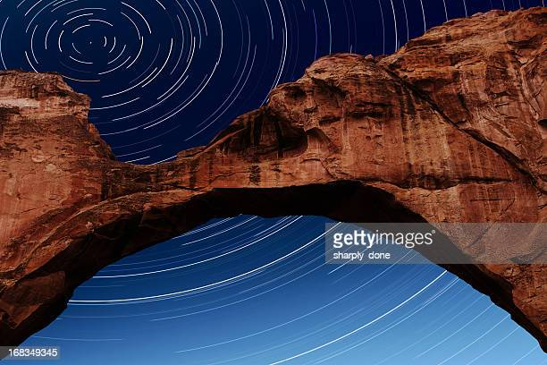 XL natural rock arch with stars