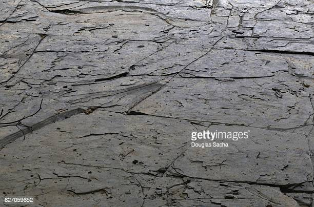 Natural Shale sedimentary rock in the landscape