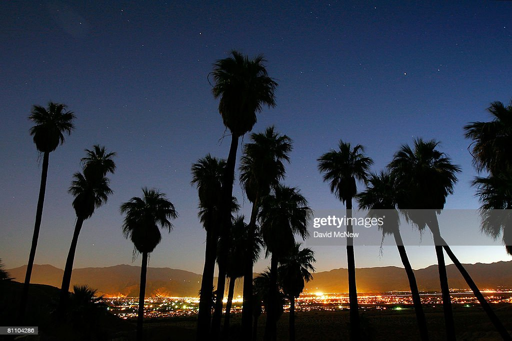 A natural springfed desert oasis is one of many supporting thousands of palm trees that line the San Andreas earthquake fault on May 15 2008...