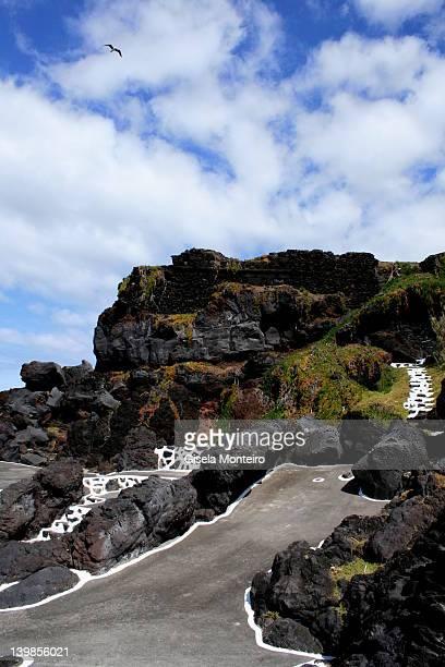 Natural volcanic catwalk