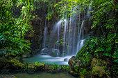 Beautiful waterfall in the rainforest
