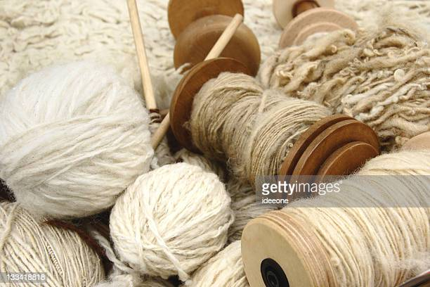 Natural wool yarns