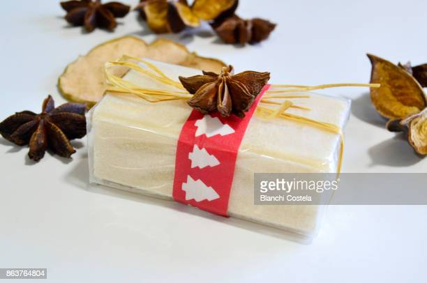 Natural wrapped herbal soap for gift