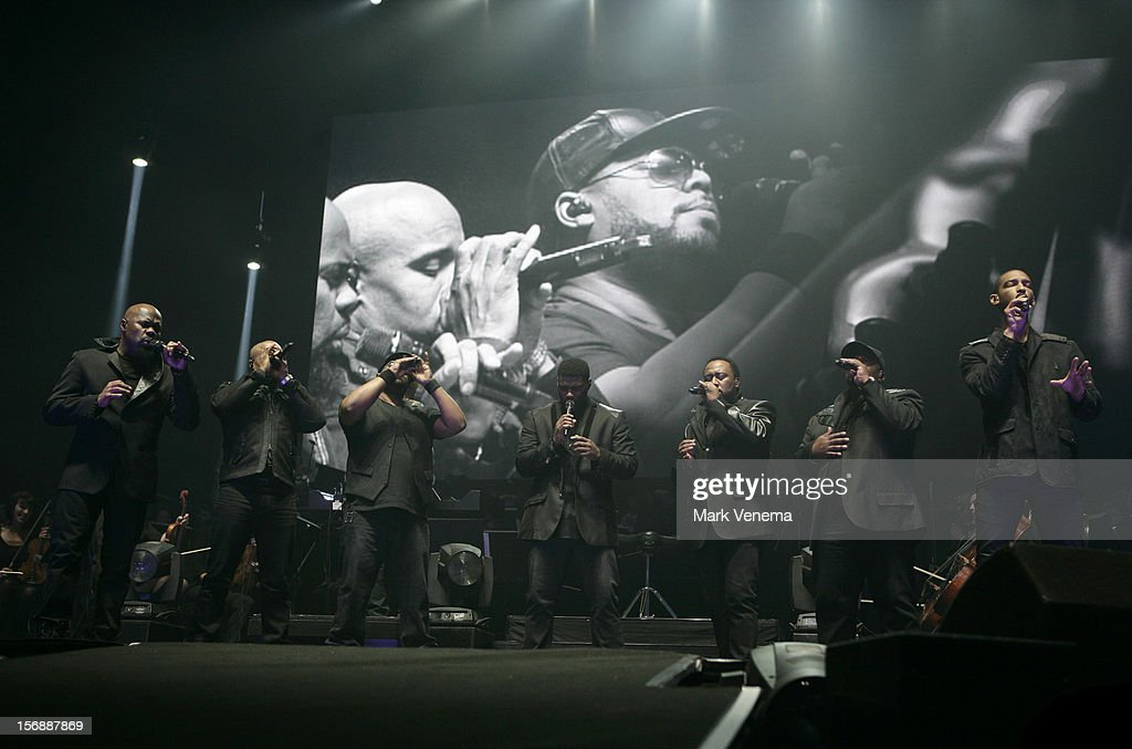 Naturally 7 perform at Night Of The Proms at Ahoy on November 23, 2012 in Rotterdam, Netherlands.