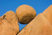 Naturally eroded rock form, Jumbo Rocks, Joshua Tree National Park, California, USA