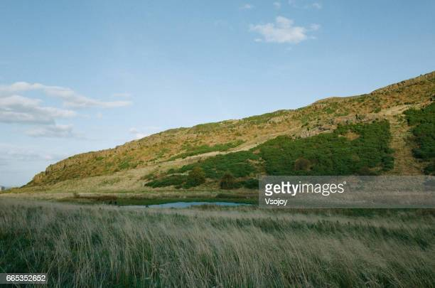 Nature beauty at Salisbury Crags, Holyrood park, Edinburgh