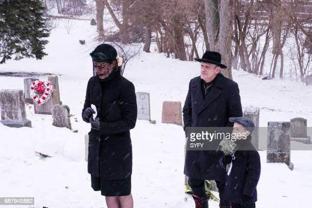 12 MONKEYS 'Nature' Episode 306 Pictured Amanda Schull as Cassandra Railly Christopher Lloyd as Zalmon Shaw Nicholas Fry as Pallid Boy