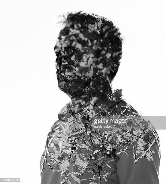 nature man - black and white