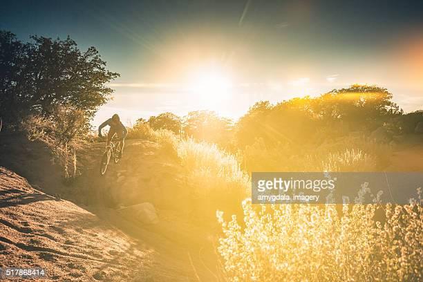 Natur Mann Landschaft Sonnenschein