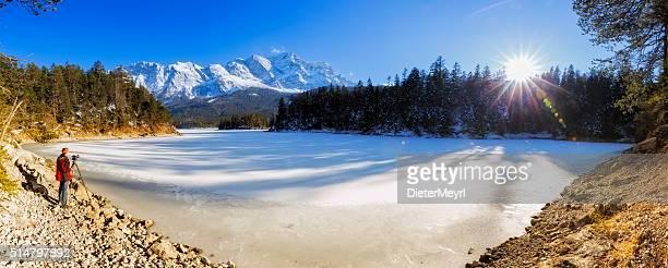 Natur Fotograf See Eibsee in der Nähe von Garmisch-Partenkirchen