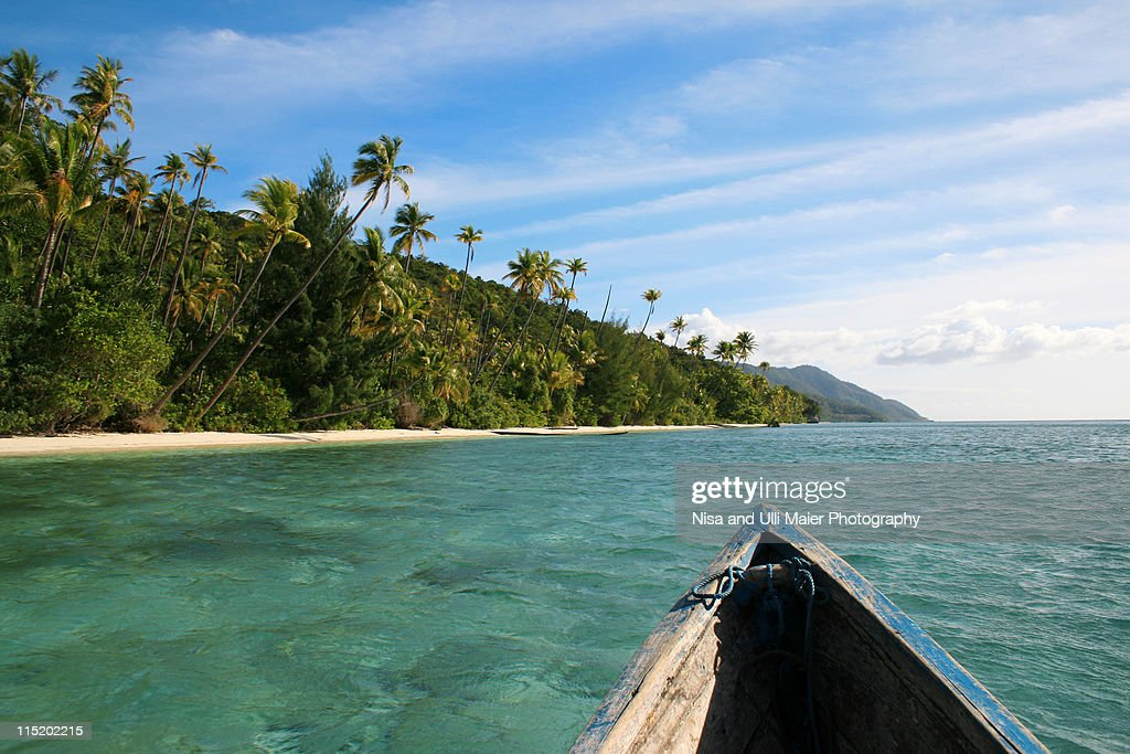 Nature still gets chance here in Raja Ampat. : Stock Photo