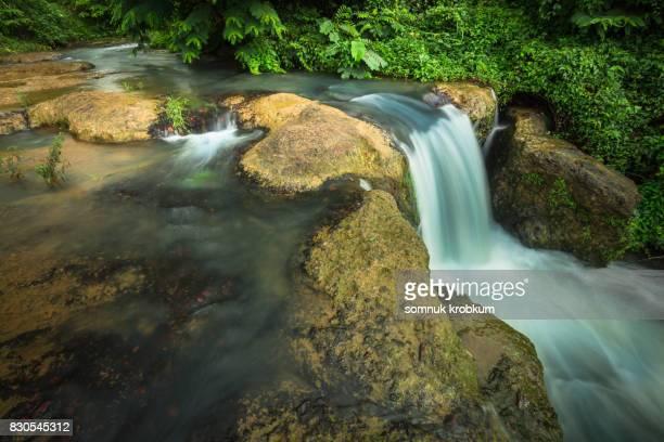 Nature waterfall in rainy season