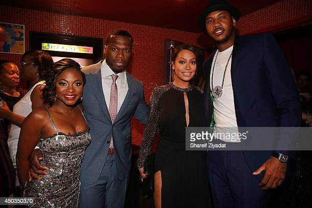 Naturi Naughton 50 Cent Carmelo Anthony and La La Anthony attends the 'Power' premiere at Highline Ballroom on June 2 2014 in New York City