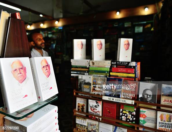 Natwar Singh's book One Life is not enough on shelfs today for sale in a book store at CP on August 1 2014 in New Delhi India