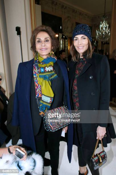 Naty Abascal and Adriana Abascal attend the Giambattista Valli show as part of the Paris Fashion Week Womenswear Fall/Winter 2017/2018 on March 6...