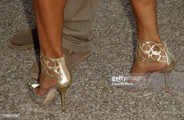 Naty Abascal attends 'Emidio Tucci Black' parade photocall at Costume Museum on July 15 2013 in Madrid Spain