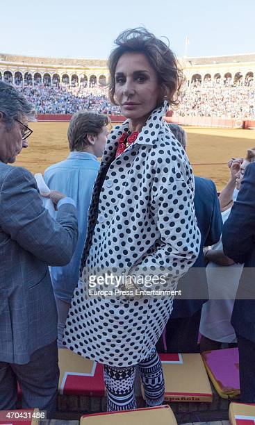 Naty Abascal attends 'Feria de Abril 2015' bullfighting on April 18 2015 in Seville Spain