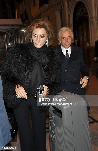 Naty Abascal attends Giancarlo Giammetti birthday party on February 5 2015 in Madrid Spain