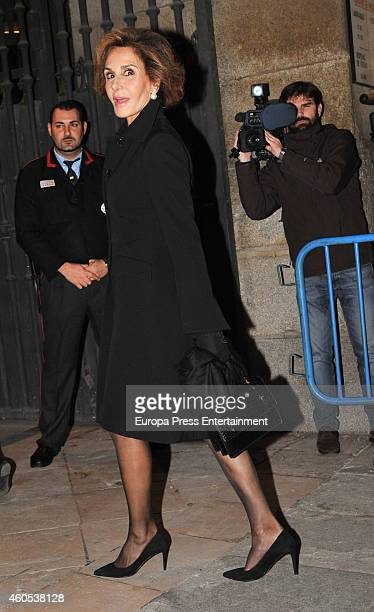 Naty Abascal attends memorial service for Duchess of Alba on December 15 2014 in Madrid Spain